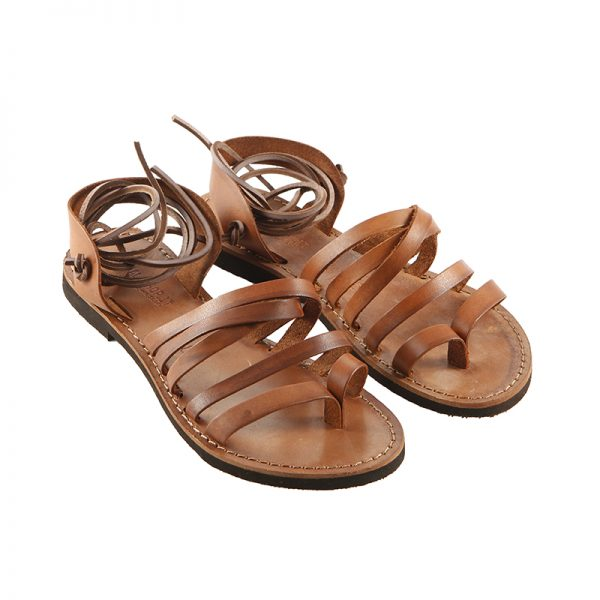 Sandalo schiava Lacci cognac da donna