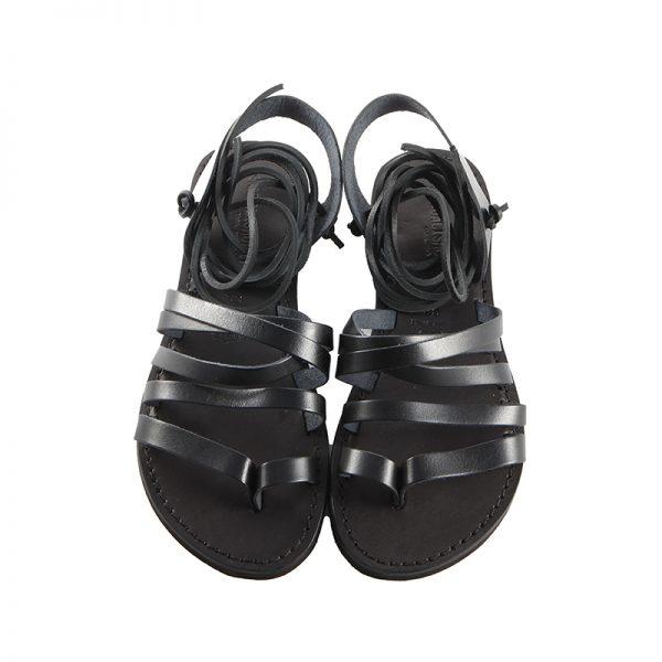 sandalo-microporoso-schiava-donna-lacci-nero-2