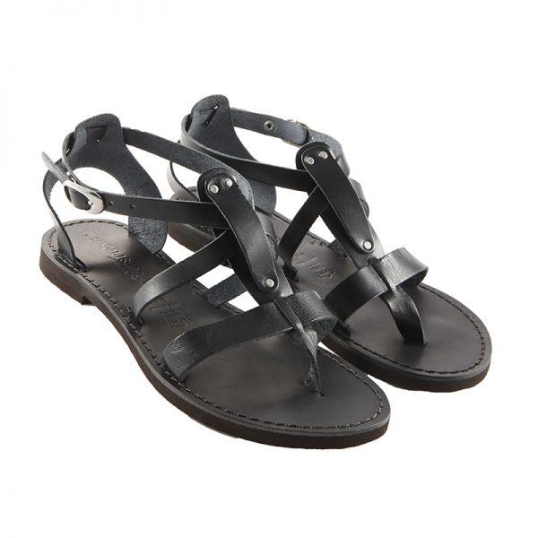 Sandalo schiava Rock nero da donna