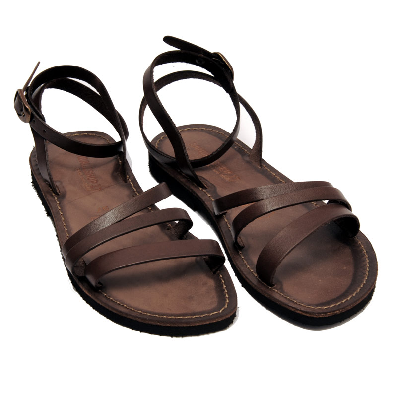 Sandalo schiava Salento marrone da donna